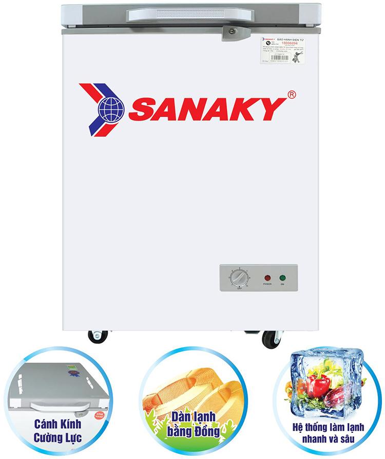 Tủ Đông Kính Cường Lực Sanaky VH-1599HYK (100L)