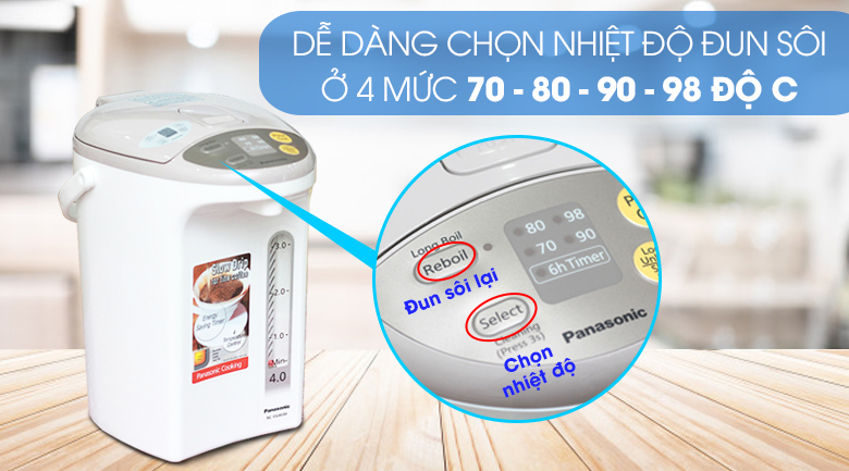 Bình thủy điện Panasonic NC-EG4000CSY 4 lít