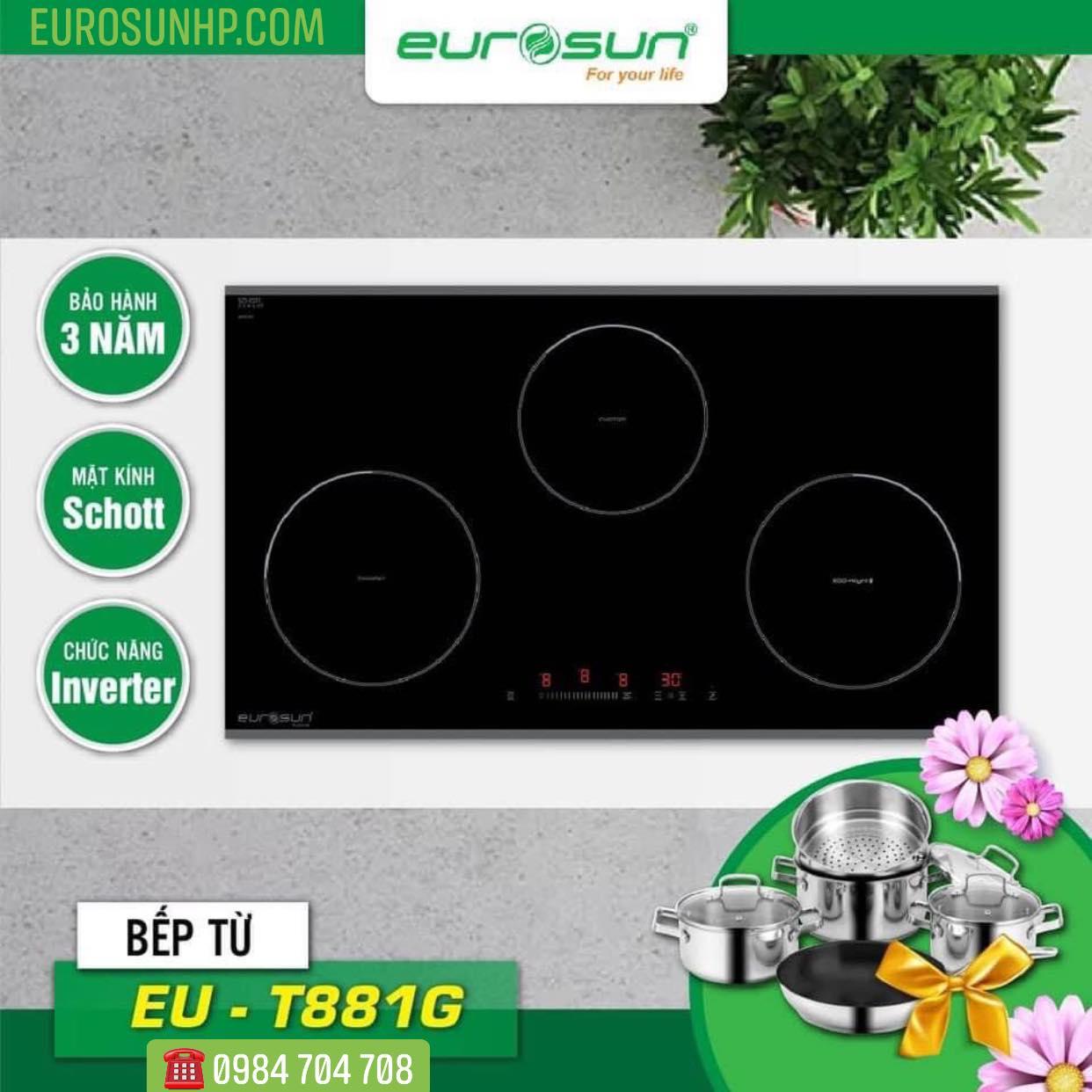Bếp từ Eurosun EU-T881G ( Quà tặng khủng)
