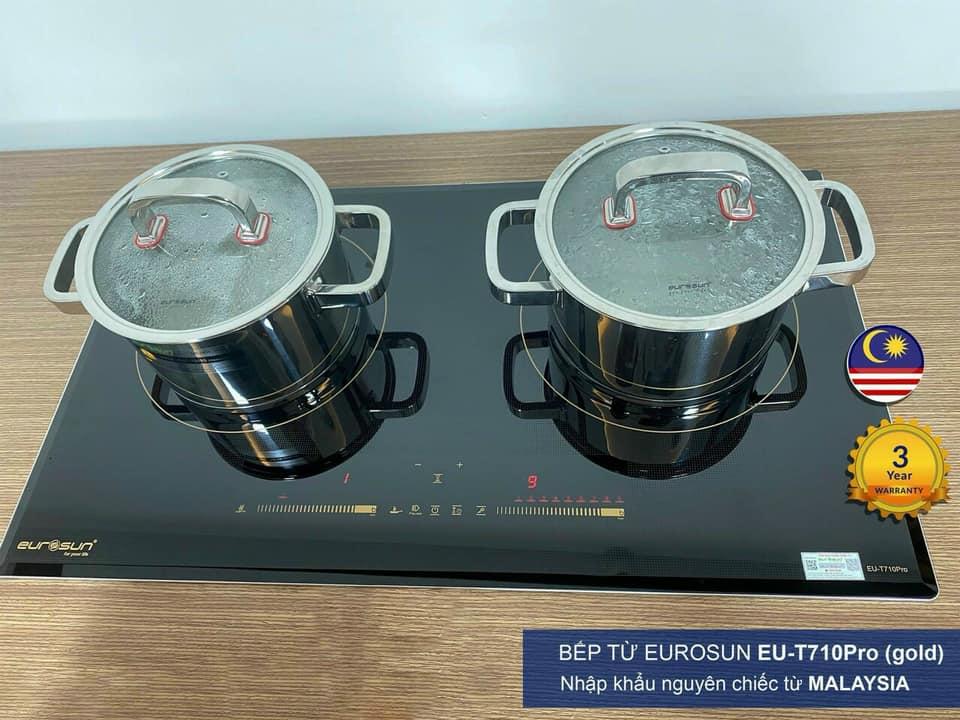 BẾP TỪ EUROSUN EU-T710PRO(G) Tặng bộ nồi , siêu đun
