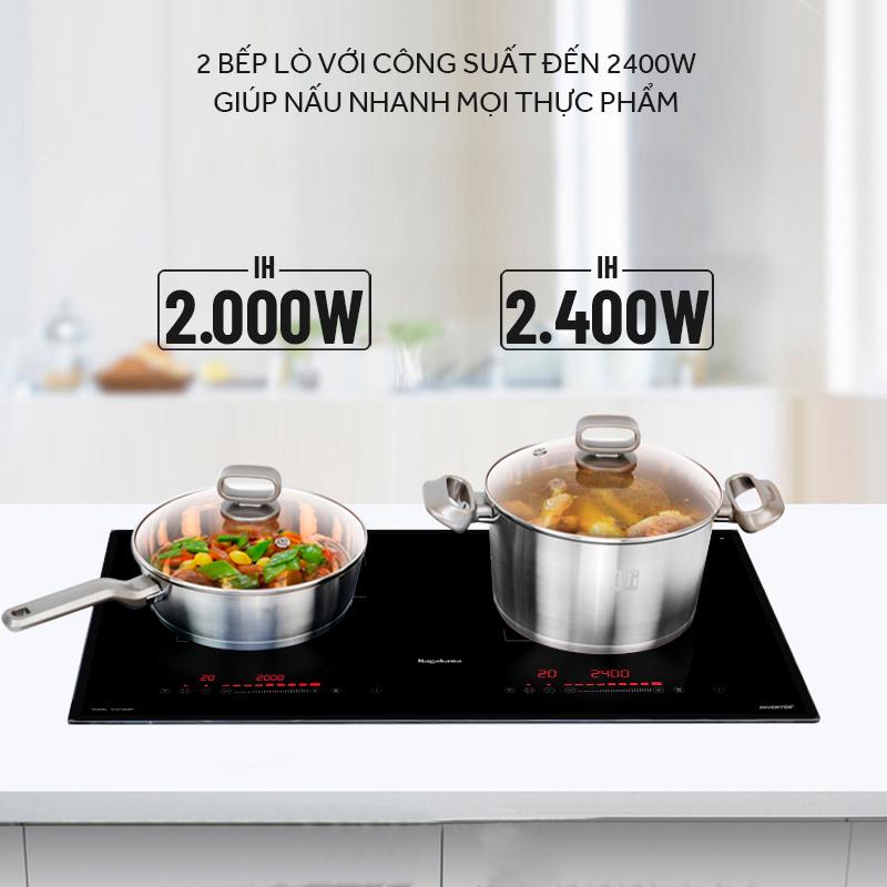 Bếp đôi điện từ Inverter Nagakawa NAG1202M