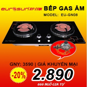 BẾP GAS ÂM HỒNG NGOẠI EUROSUN EU-GN08