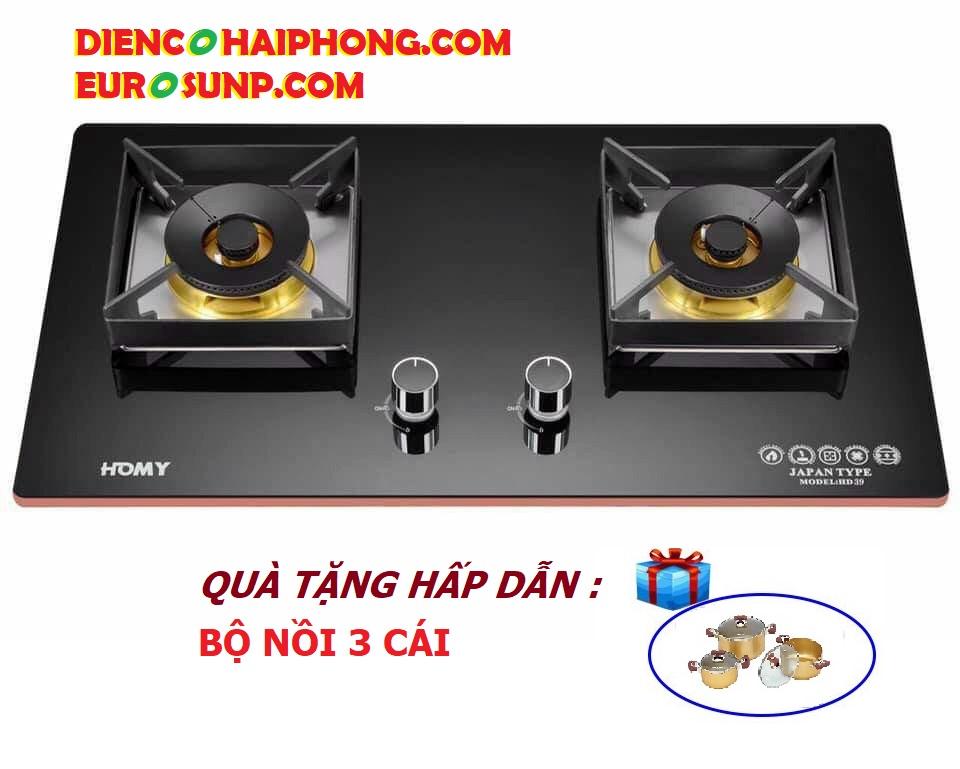 Bếp ga âm Homy HD-039 ( tặng bộ nồi )