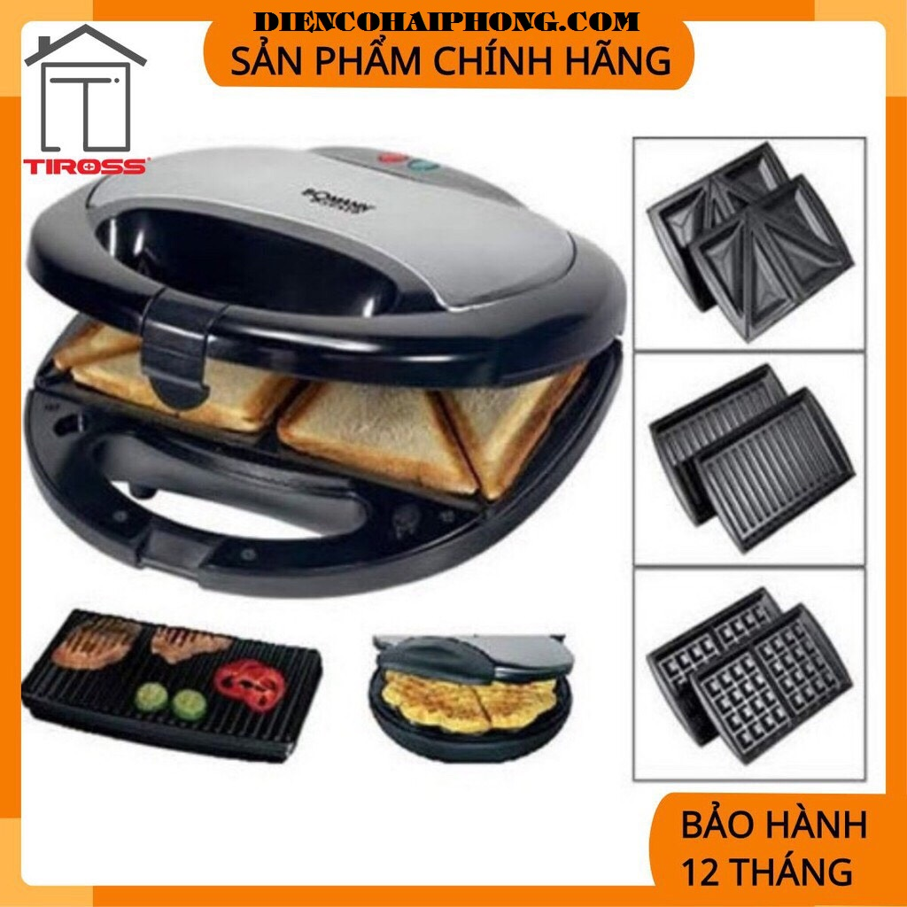 Máy làm bánh Hotdog Sandwich 3IN1 Tiross TS513