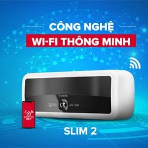 Bình nóng lạnh Ngang Ariston SLIM2 LUX WIFI 30L