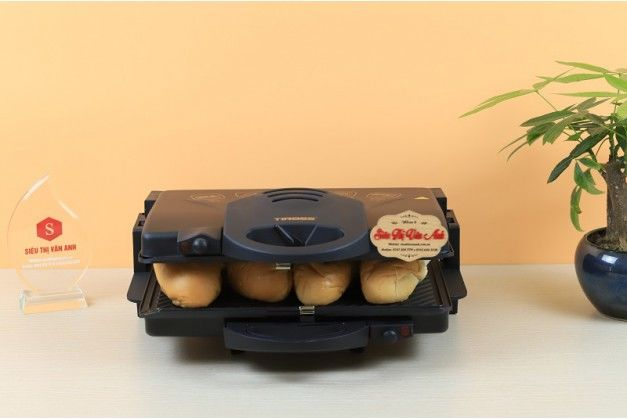 Máy nướng ép bánh mỳ , thịt đa năng Tiross TS-965 ( dùng cho nhà hàng quán ăn )