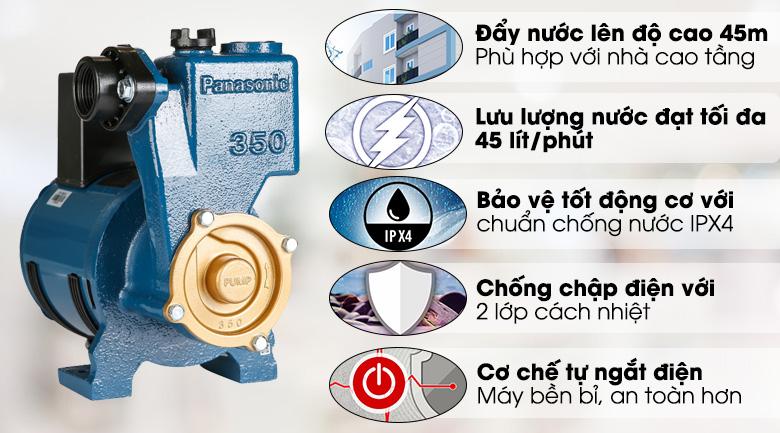 Máy bơm nước đẩy cao Panasonic GP-350JA-NV5 350W