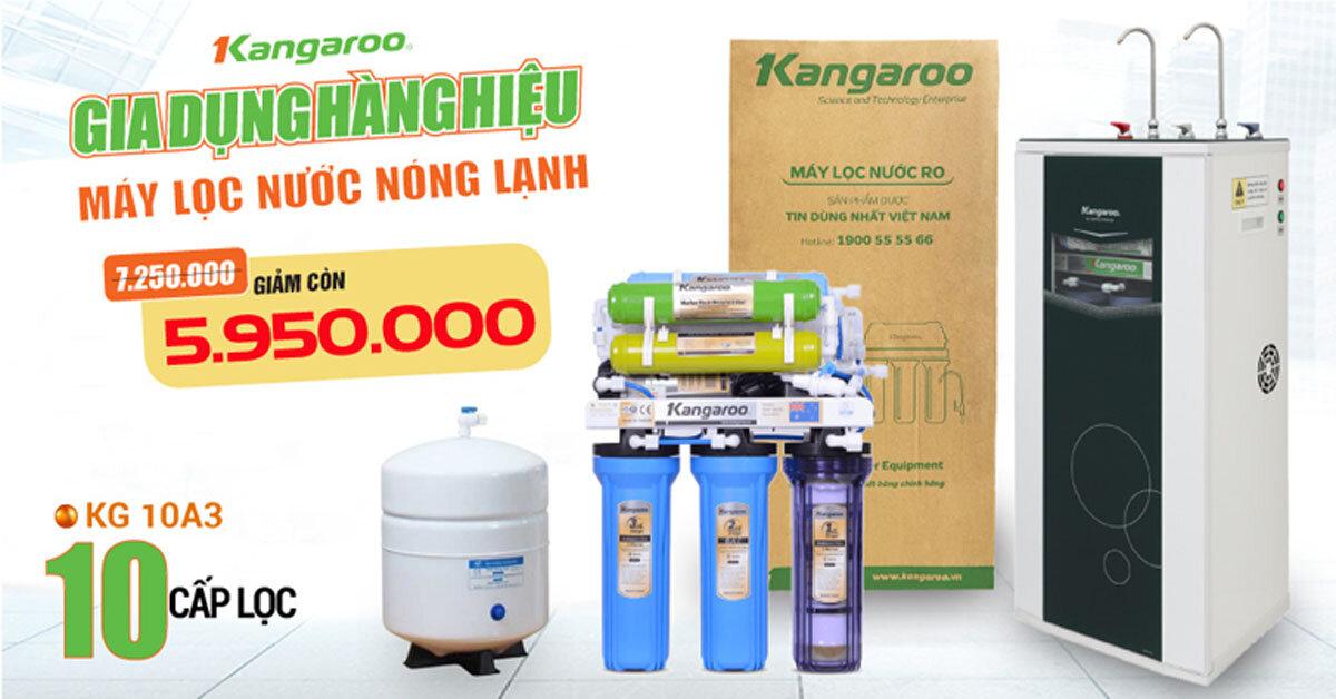 Máy lọc nước RO nóng lạnh Kangaroo KG10A3 10 lõi ( quà tặng )