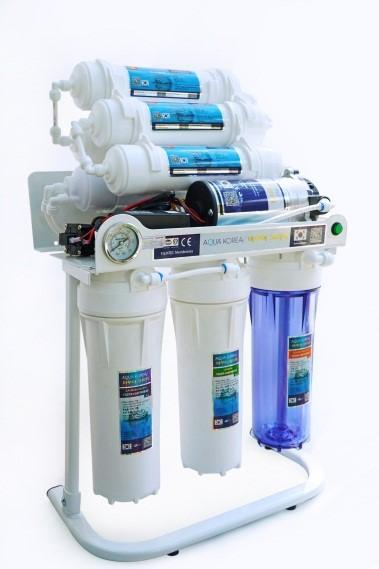Máy lọc nước Aqua KOREA 9 lõi không vỏ chân quỳ