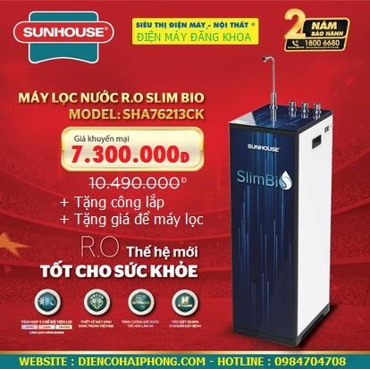 Máy lọc nước Sunhouse R.O nóng lạnh 10 lõi SHA76213CK