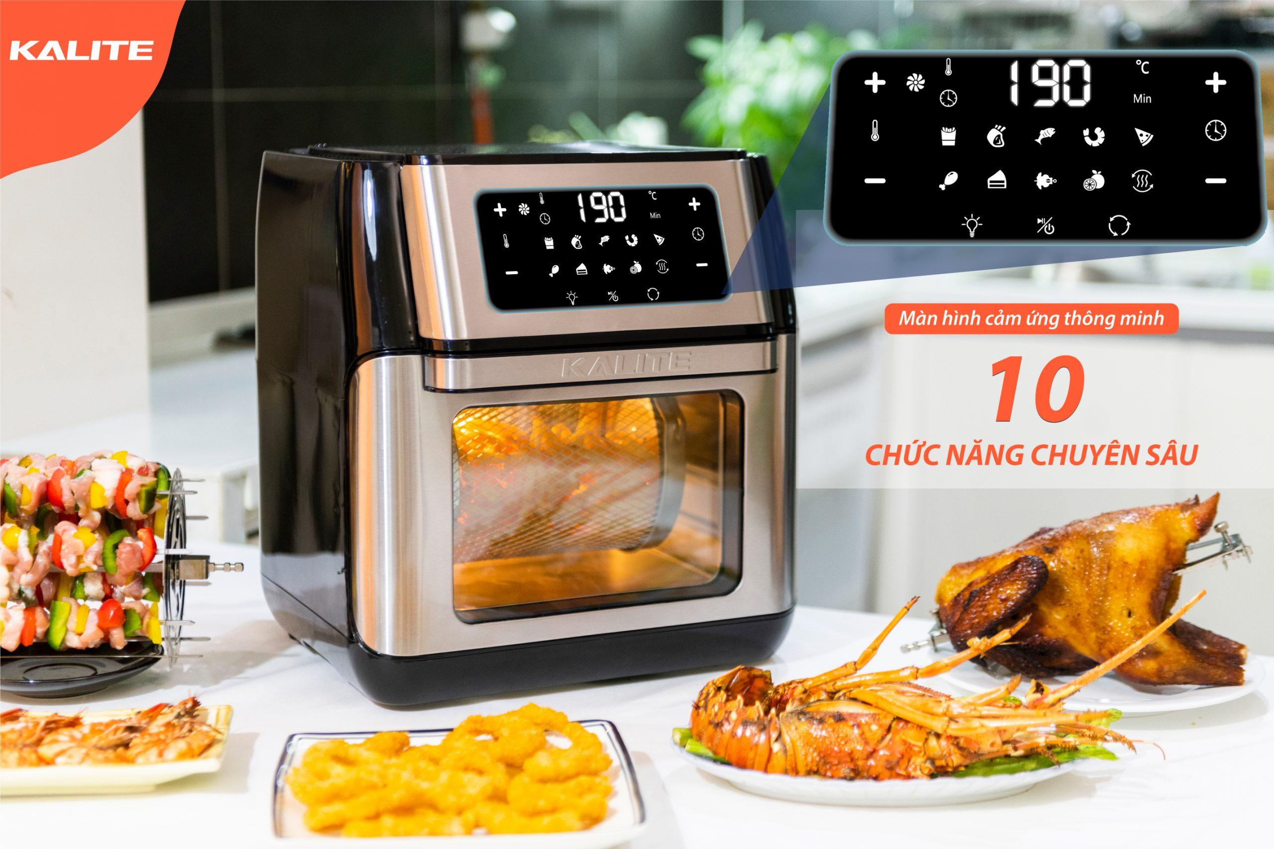 NỒI CHIÊN KHÔNG DẦU KALITE Q10 ( Tặng sác công thức nấu ăn )