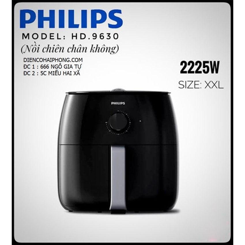 Nồi chiên không dầu Philips HD9630-XXL 2200w ( Tặng máy làm sữa )