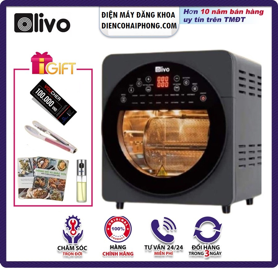 Nồi chiên không dầu OLIVO AF15 ( Quà tặng khủng )