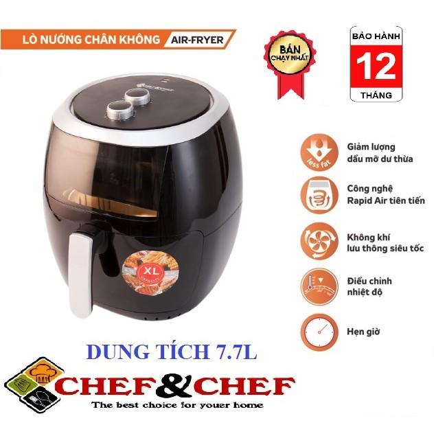 Nồi chiên 2400W Chef&Chef YJ-707 Dung tích 7,7L