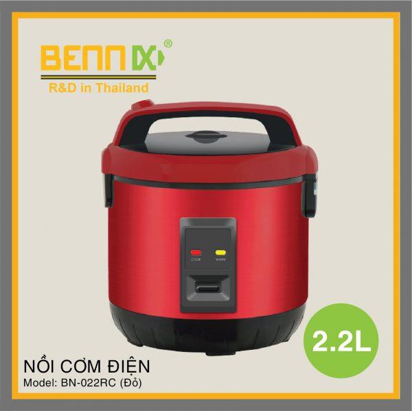 Nồi cơm điện Bennix dung tích 2.2L BN-022RC(màu Đỏ)