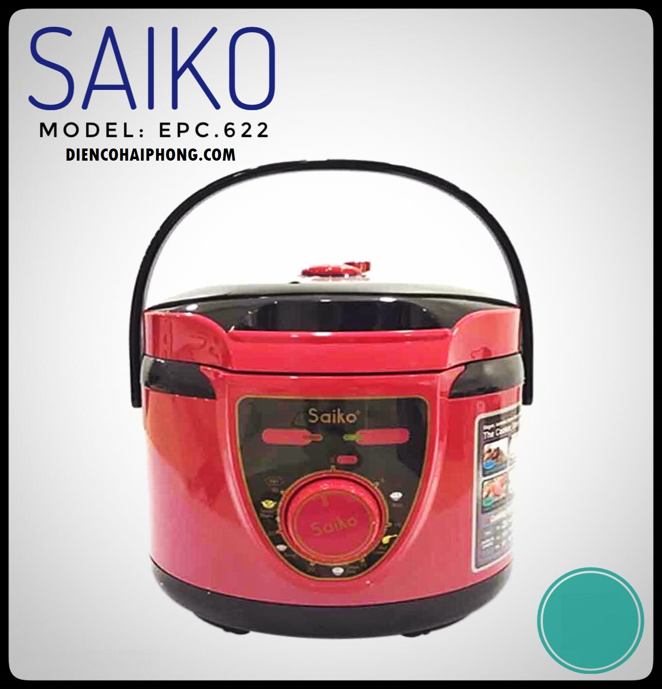 Nồi áp suất điện 2.2L Saiko EPC-622