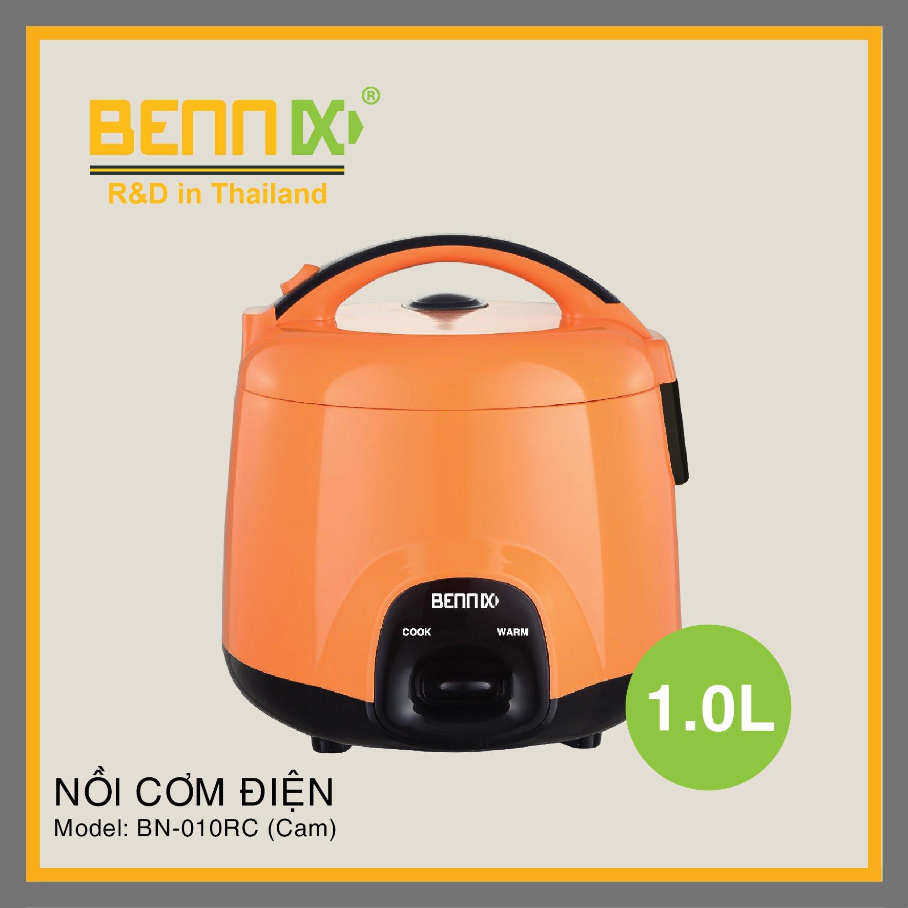 Nồi cơm điện Bennix dung tích 1l BN-010RC (màu Cam)
