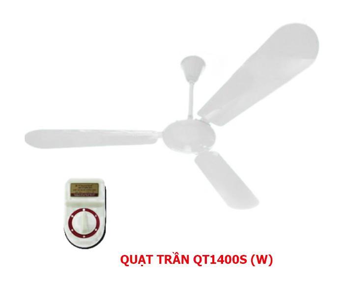 Quạt trần 3 cánh điện cơ thống nhất Vinawind QT1400-S cánh sắt
