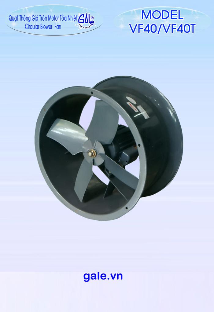 Quạt hút công nghiệp tròn VF40 có moter tản nhiệt
