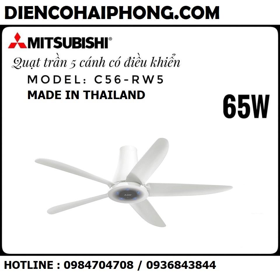 Quạt trần Mitsubishi 5 cánh C56-RW5 ( 65W )