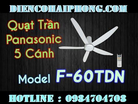 QUẠT TRẦN 5 CÁNH PANASONIC F-60TDN Malaysia