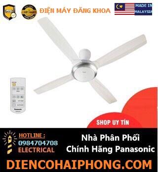 Quạt trần khiển 4 cánh Panasonic F56XPG Malaysia (màu trắng)
