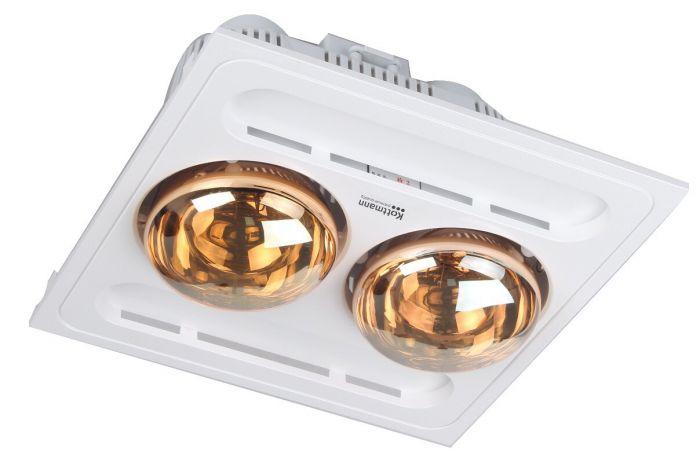 Đèn sưởi nhà tắm Kottmann 2 bóng âm trần K9R