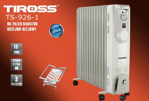 Máy sưởi dầu Tiross 13 thanh TS926-1 (TẶNG giá phơi)