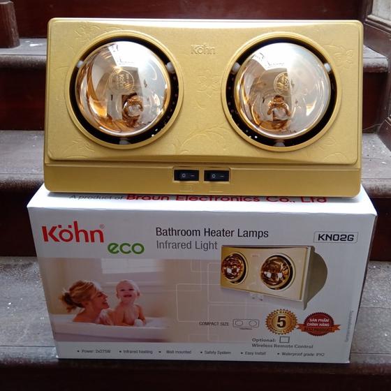 Đèn sưởi nhà tắm Kohn Eco2 bóng Vàng KN02G