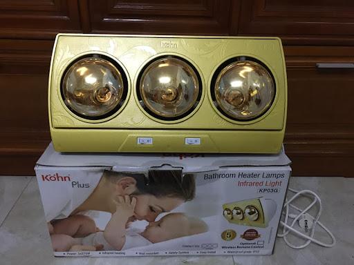Đèn sưởi nhà tắm 3 bóng Braun Kohn Plus KP03G 825W