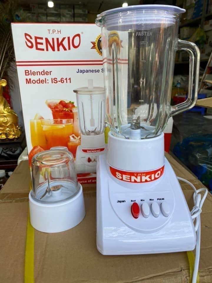 Máy xay sinh tố 2 cối thủy tinh Senkio IS-611 350W