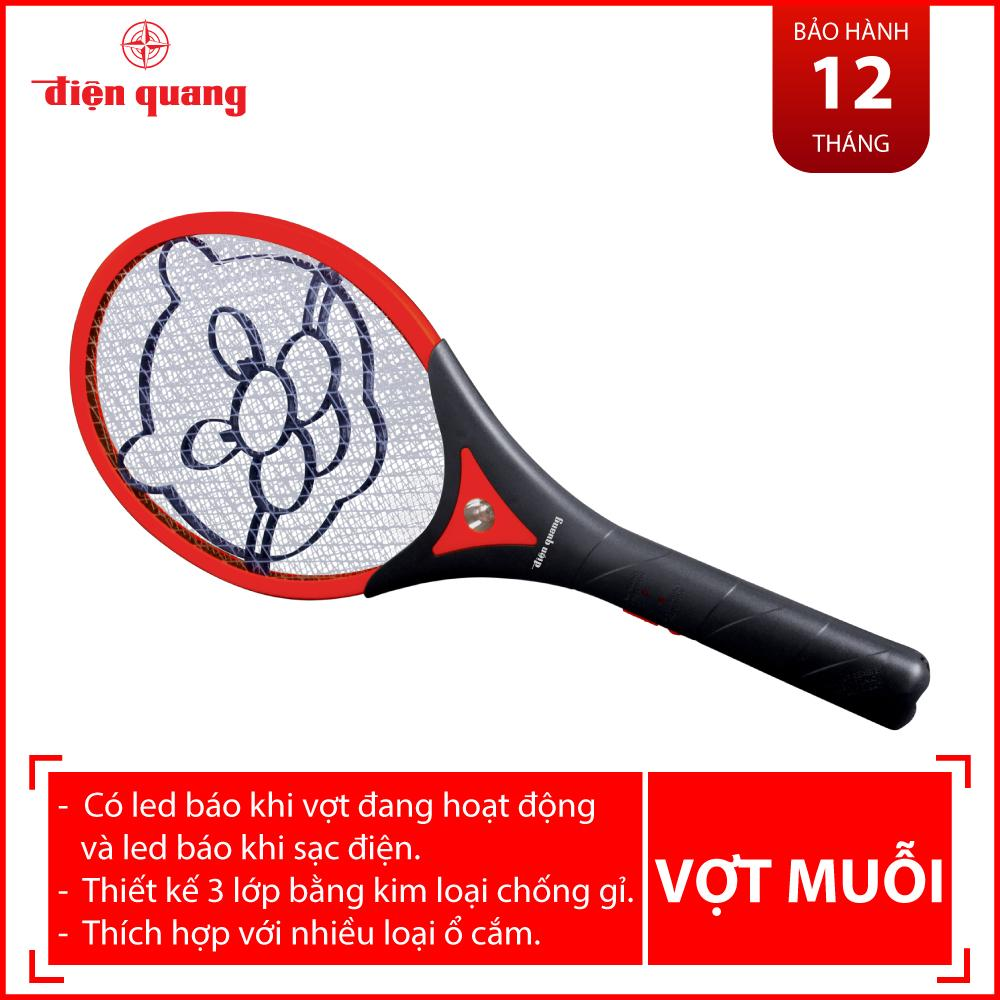 Vợt Muỗi Điện Quang EMR01 BLR (Đen-Đỏ)